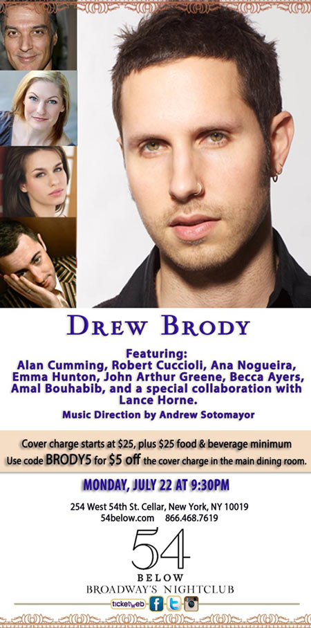 Drew Brody at 54 Below